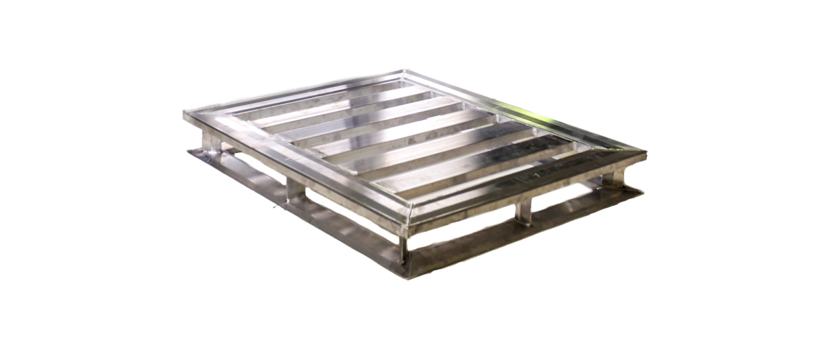 Standard aluminum pallet for GMA guidelines.