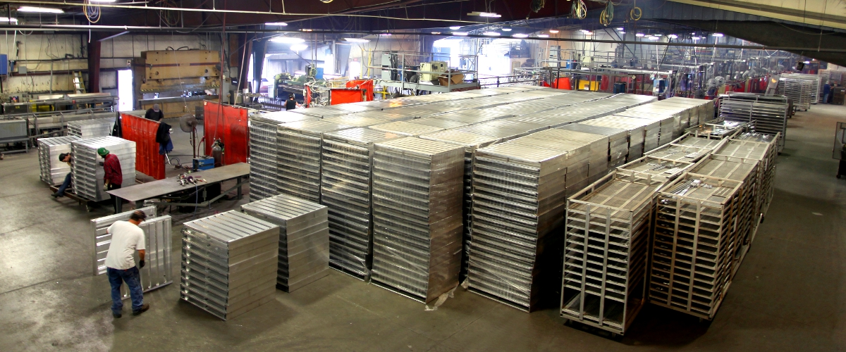 Custom pallets for the frozen food Industries.