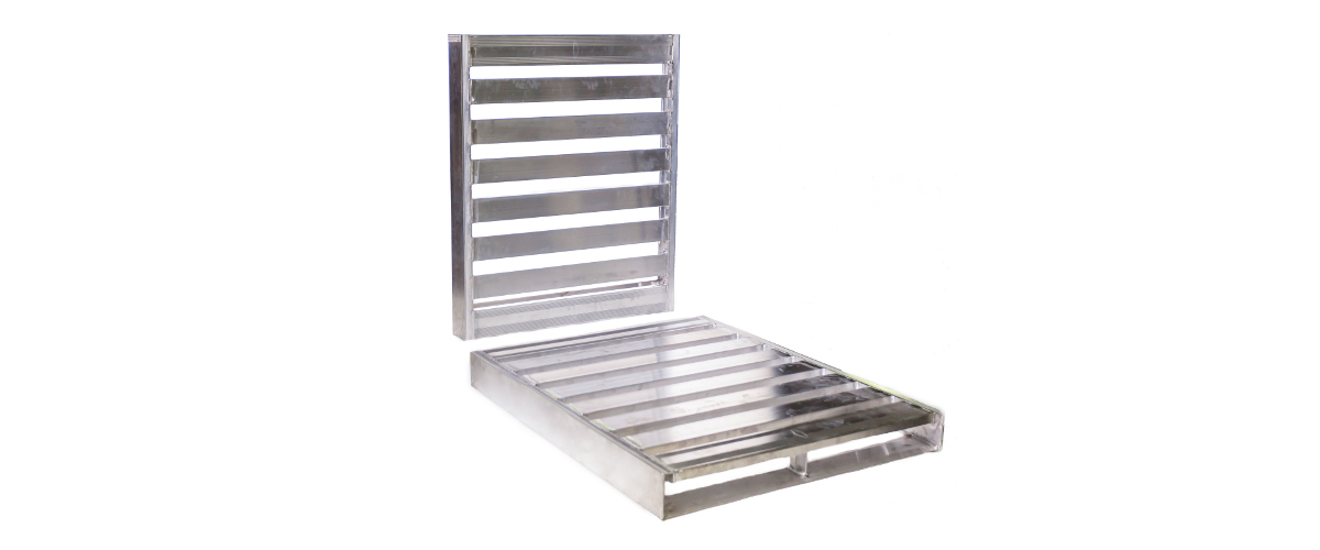 Food processing with aluminum pallets meets the Food Safety Modernization Act (FSMA)  Guidlines.