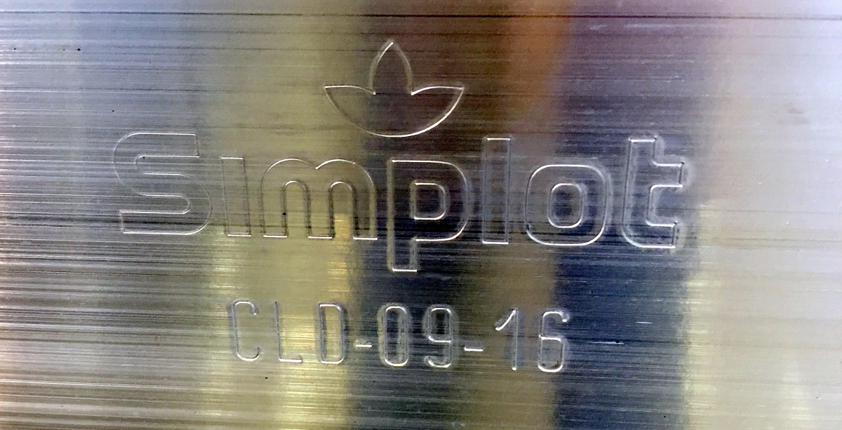 Pallet marking to include name and logo of Simplot